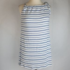 CAbi 5334 Ole Bow Halter Striped Tie Bow Strap Top